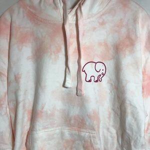 New Ivory Ella Blossom tie dye hoodie L